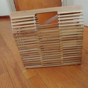 Bamboo rectangular bag